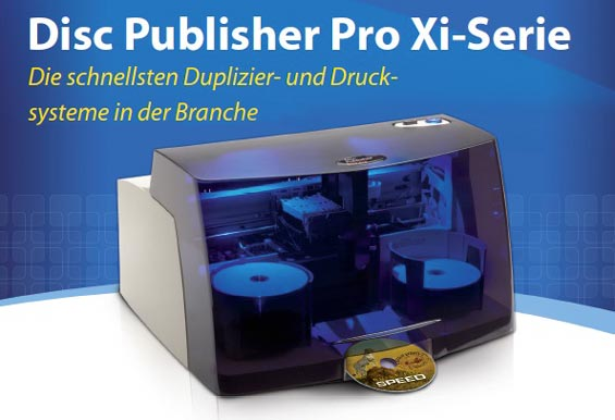 Disc Publisher PRO Xi Serie  | CD/DVD Publisher Systeme